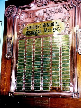 Normal maleny soldiers memorial roll of honor