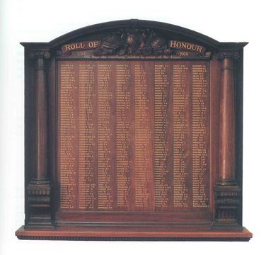 Normal 1914   19181 roll of honour board collegians house  1