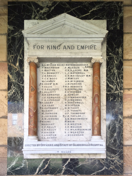 Normal gladesville hospital wwi roll of honour