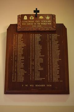 Normal concordia honour board