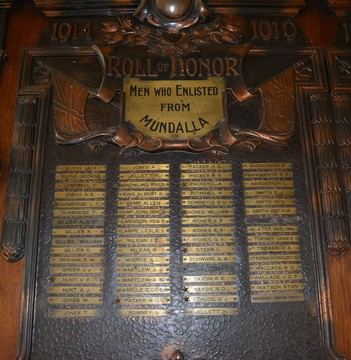 Normal bordertown men who enlisted from mundalla roll of honor