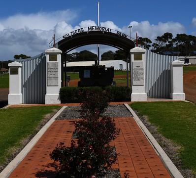 Normal kingscote soldiers memorial park gates