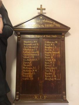Normal st joachim s catholic church wwi honour board   courtesy silvia zanello   2