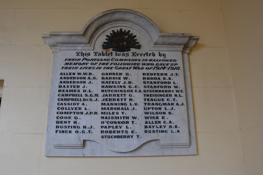 Normal portland victoria soldiers memorial club rooms roll of honour world war one 21030352866 o