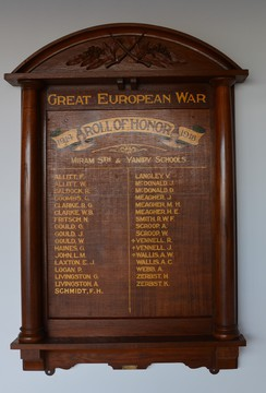 Normal victoria miram south  yanipy schools great european war roll of honour 19141918 19762522446 o
