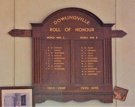 Normal dowlingville world war one and world war two roll of honour yorke peninsula south australia 45214112172 o