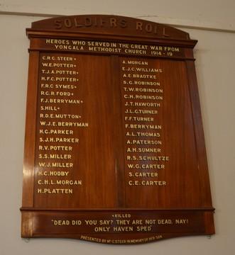 Normal yongala methodist church soldiers roll of honour  great war 19141919 flinders ranges south australia 45091220284 o