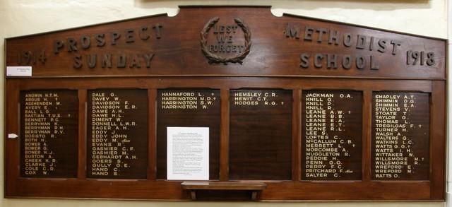 Normal world war one sunday school roll of honour former prospect wesleyanmethodistuniting church south australia 16106114322 o