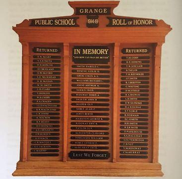 Normal grange public school roll of honor