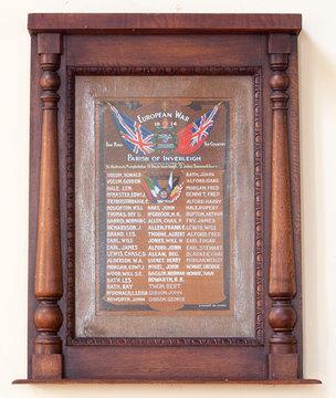 Normal inverleigh parish of inverleigh honor roll