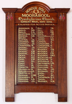 Normal batesford moorabool presbyterian church honour roll