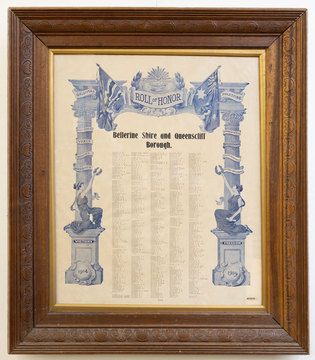 Normal bellerine shire and queenscliff borough roll of honor