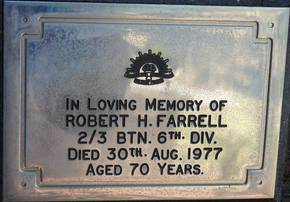 Profile pic farrell robert hennesley sgt nx4870   d 30 8 1977   wollongong city meml gdns