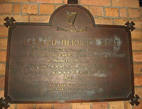Normal strathfield st anne s anglican church rose memorial tablet