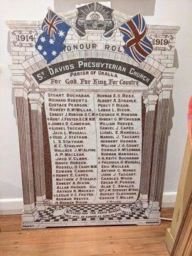 Normal uralla st david s presbyterian church honour roll