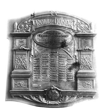 Normal kalgoorlie caledonian society roll of honor