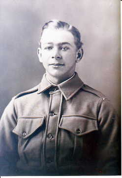 Profile pic in aif uniform   taken after enlistment  prior to embarkation to wwi on western front  belgium. 1916 william moore alford