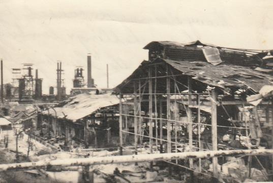 Normal operation oboe borneo 1945 bomb damage at balikpapan