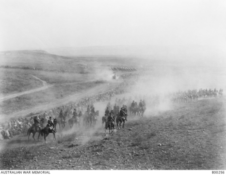 Normal awm b00256 australian light horse and turkish prisoners at megiddo 1