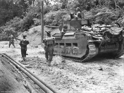 Normal awm 089471 2 48th battalion advance on tarakan 1945