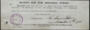 Thumb receipt for memorial scroll