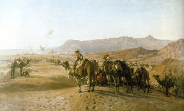 Normal camel corps at magdhaba