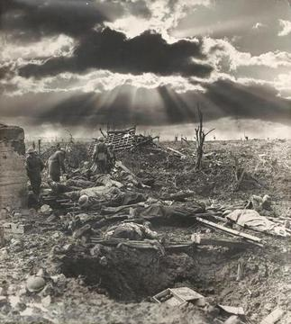 Normal morning a passchendaele. frank hurley