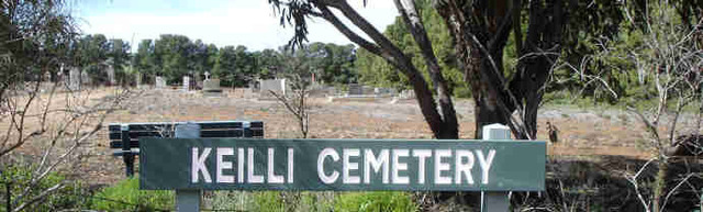 Normal entry sign to keilli cemetery