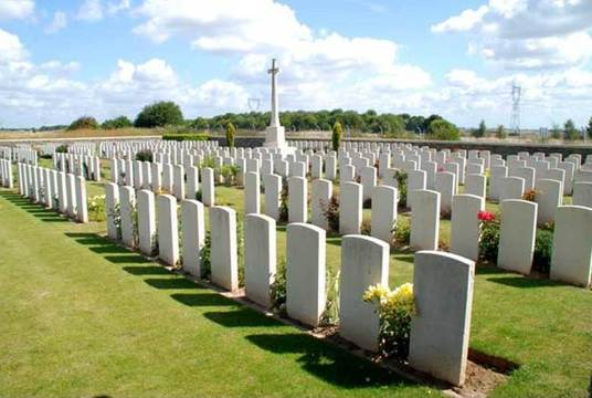Normal assevillers new british cemetery   assevillers   picardie   france       by christopher weekes