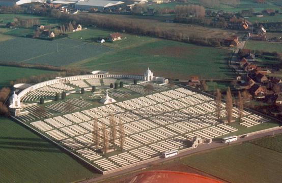 Normal tyne cot cemetery  aerial view   iain mchenry