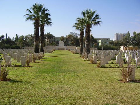 Normal beersheba war cemetery   entrance walkway to sacred cross