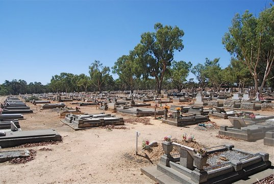 Normal graves and headstones