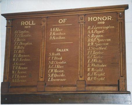 Normal photo of wwi honour board   20140523