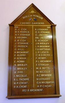 Normal cherry gardens honour board