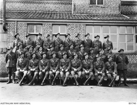 Normal awm e01740 50th battalion officers march 1918 1