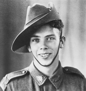 Profile pic clarke qx17307 bombardier hugh vincent  2 10 field regiment. a cadet surveyor  he enlisted at the age of 20.  photo bris late 1940 prior to departure of  8th divi for malaya