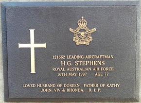 Profile pic stephens harley gimson   121662   headstone plaque auburn general cemetery 16 5 1997