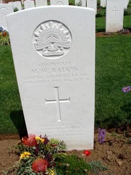 Profile pic 2016 5 1 balkin michael w   kia 20 7 1916  pheasant wood cemetery fromelles