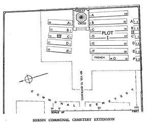 Profile pic hersin communal cemetery extension   hersin coupigny  lens  nord pas de calais  france