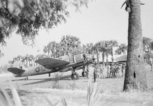 Normal bristol beaufighter mk vif x7898 g of no 89 squadron raf detachment at sadaung burma