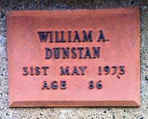 Profile pic 2016 6 16    17774 william alexander dunstan plaque