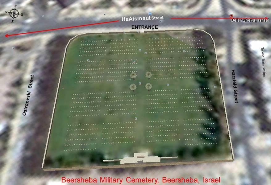 Beer Sheva Israel Map%0A Thumb beersheba war cemetery closeup satellite view street names