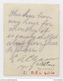 Thumb cleaver  edward randolph    91   photo  palestine outfront of his tent   writing on back