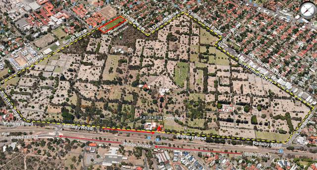 Normal karrakatta cemetery   satellite view