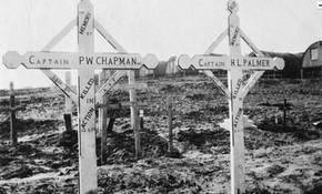 Profile pic bernafay wood british cemetery   cpts percy wellesley chapman d 12 3 17   herbert leopold palmer d 11 3 17