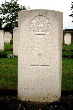 Profile pic smith pte 3227 albert edward 4th btn d 12 5 1916   rue petillon military cemetery  plot i  row j  grave 55   headstone