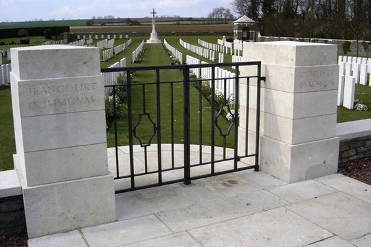 Normal jeancourt communal cemetery front gates