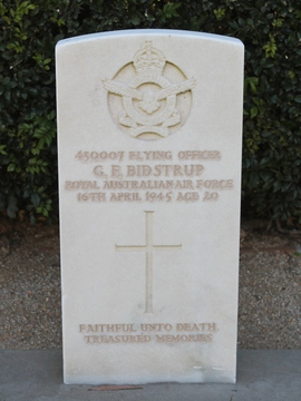 Profile pic bidstrup f o 430007 george ferguson   headstone at sandgate war cemetery