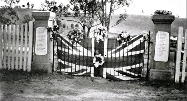 Normal sawyers gully memorial  school  gates 1914