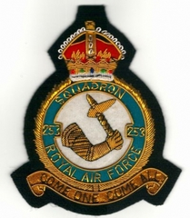 Big thumb no. 253 squadron royal air force raf gold wired blazer embroidered badge 26474 p
